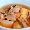 鶏肉と厚揚げのとろ煮。茶わん蒸し。ツナとなめ茸の炊き込みご飯。