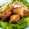 鶏もも肉の南蛮漬け。冬瓜のスープ。ご飯。