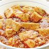 麻婆豆腐。中華スープ。中華サラダ。ご飯。