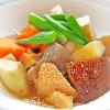 筑前煮。春雨マヨぽんサラダ。ご飯。みそ汁。
