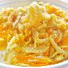 かき揚げ丼。ツナと炒り卵の酢の物。みそ汁。
