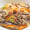 チャプチェ。たたきキュウリのごま塩和え。中華スープ。ご飯。