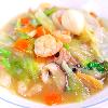 八宝菜。 中華風コーンスープ。ご飯。