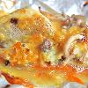 白身魚のねぎ味噌ホイル焼き。みそ汁。ご飯。