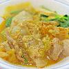 キムチチヂミ。大根のナムル。杏仁豆腐。