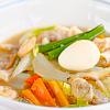八宝菜。中華風コーンスープ。ご飯。
